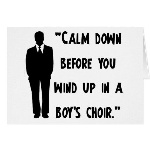 Calm Down Card