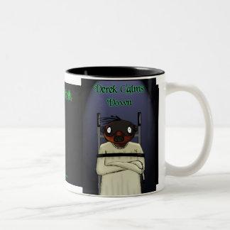 Calm Down - Dark Derek Two-Tone Coffee Mug