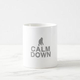 Calm Down. Grey Monkey Design Coffee Mug
