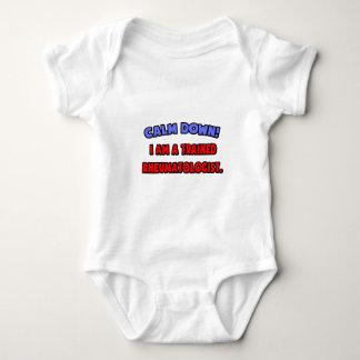 Calm Down .. I am a Trained Rheumatologist Baby Bodysuit