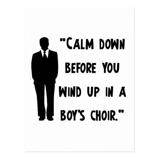 Calm Down Postcard