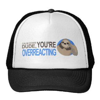 Calm down Sloth Trucker Hat