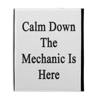 Calm Down The Mechanic Is Here iPad Folio Covers