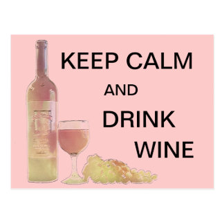 Calm Drink Wine Graphic Postcard