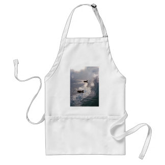 Calm Ducks Before the Storm Adult Apron