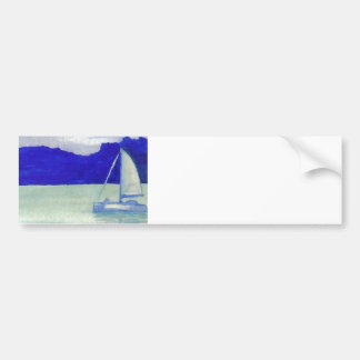 Calm Easy Sailing  CricketDiane Ocean Art Bumper Sticker
