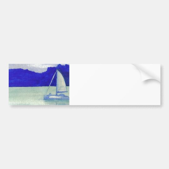 Calm Easy Sailing  CricketDiane Ocean Art Bumper Sticker