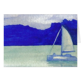 Calm Easy Sailing  CricketDiane Ocean Art Card