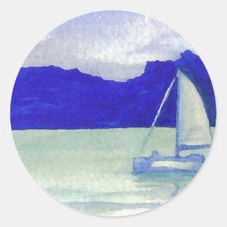 Calm Easy Sailing  CricketDiane Ocean Art Classic Round Sticker