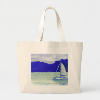 Calm Easy Sailing  CricketDiane Ocean Art Large Tote Bag