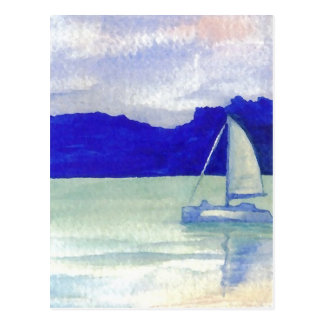 Calm Easy Sailing  CricketDiane Ocean Art Postcard