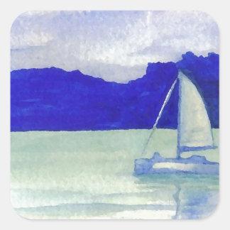 Calm Easy Sailing  CricketDiane Ocean Art Square Sticker