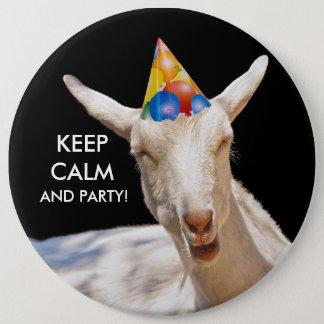 Calm Goat Button