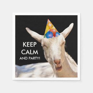 Calm Goat Cocktail Paper Napkins