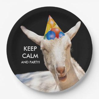 Calm Goat Paper Plates