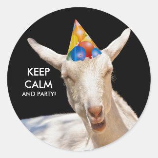 Calm Goat Round Sticker