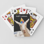 "Calm Goat Standard Playing Cards<br><div class=""desc"">Calm Goat Standard Playing Cards shows a real party animal. He looks like he's falling asleep. Or delete the text and add your own.</div>"
