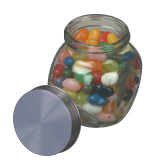 Calm Gray Solid Color Customize It Glass Candy Jar