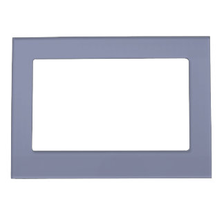 Calm Gray Solid Color Picture Frame Magnet