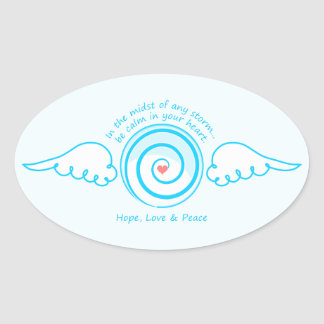 Calm Heart in a Storm Oval Stickers