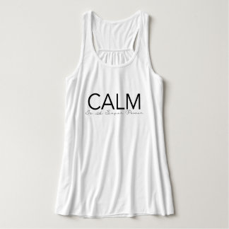 Calm Is A Super Power | Yoga Typography Tank Top