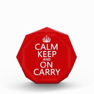 Calm Keep and On Carry - all colours Acrylic Award