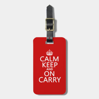 Calm Keep and On Carry - all colours Bag Tag
