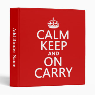 Calm Keep and On Carry - all colours Binder