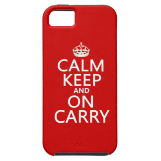Calm Keep and On Carry - all colours iPhone 5 Case
