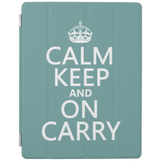 Calm Keep and On Carry - all colours iPad Cover