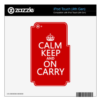 Calm Keep and On Carry - all colours iPod Touch 4G Decals