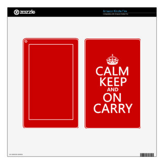 Calm Keep and On Carry - all colours Kindle Fire Decal