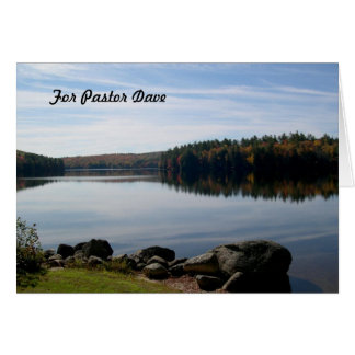 Calm Lake Photography Pastor Appreciation Card