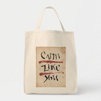 Calm Like You Grocery Tote Bag