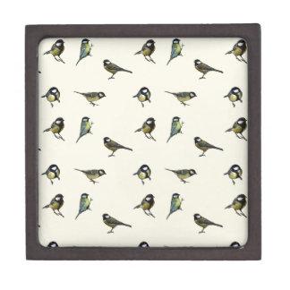 Calm Little Birdie Pattern Jewelry Box