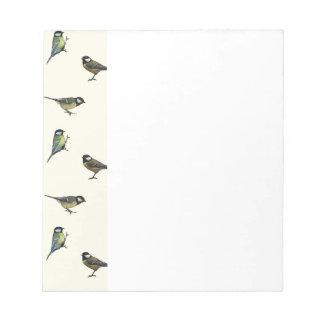 Calm Little Birdie Pattern Notepad