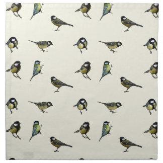 Calm Little Birdie Pattern Printed Napkins