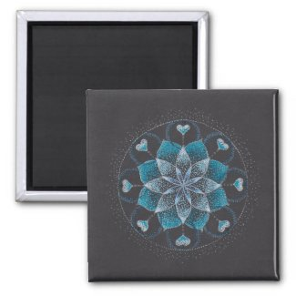 Calm Mandala Art 2 Inch Square Magnet