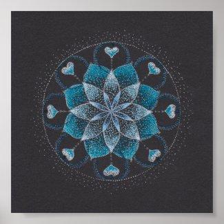 Calm Mandala Art Square Poster(Matt) Poster