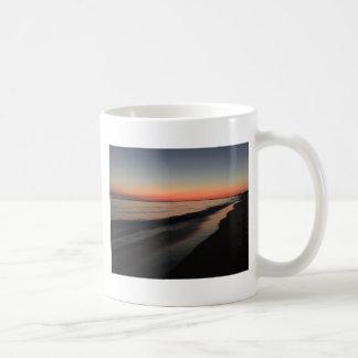 Calm morning beach sunrise coffee mug
