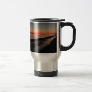 Calm morning beach sunrise travel mug