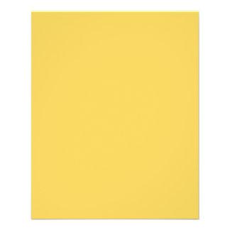 Calm Mustard Yellow Color Flyer