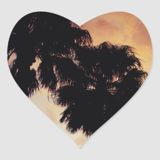 Calm Night Heart Sticker
