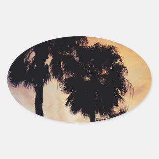 Calm Night Oval Sticker