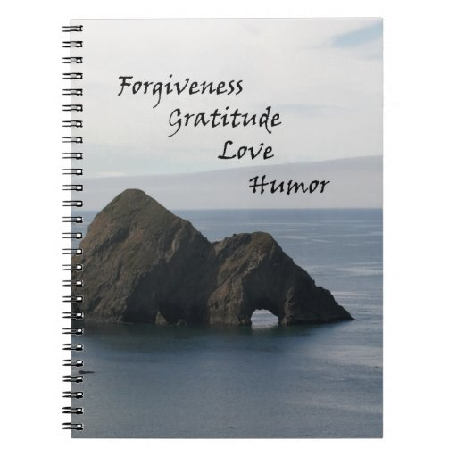 Calm Ocean Positive Thoughts Spiral Note Book