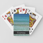 "Calm Ocean Waves with Name Playing Cards<br><div class=""desc"">Calm Ocean Waves with Name Playing Cards. Personalize these custom playing cards by typing your name in the text box.</div>"