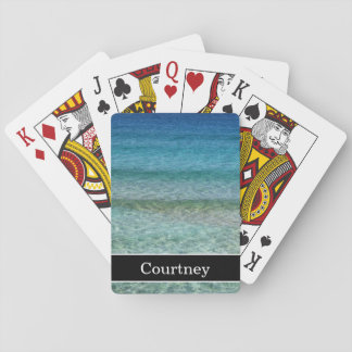 Calm Ocean Waves with Name Playing Cards