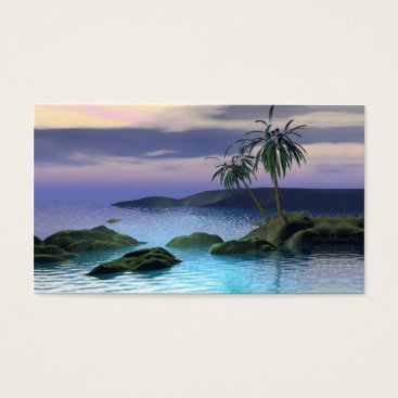 Professional Business Calm Palms - Business Size Business Card