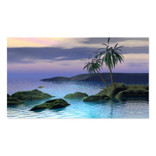 Calm Palms - Business Size Business Cards