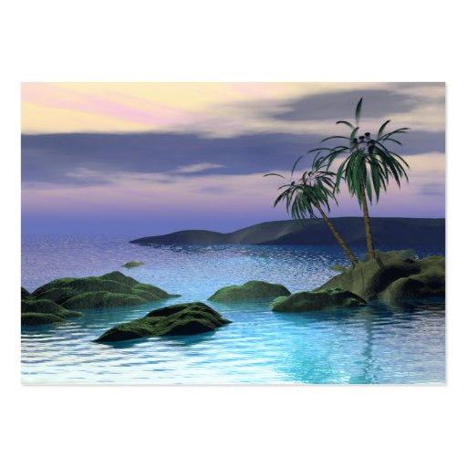 Calm Palms - Chubby Large Business Cards (Pack Of 100)
